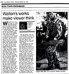 Ottawa Citizen, review of Jennifer Walton's Hunters by Nancy Baele.